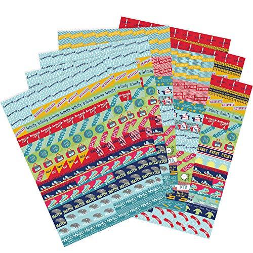 Boxclever Press Großpackung Planersticker, Erinnerungssticker. 1.152 Kalender Sticker. Selbstklebende, farbenfrohe Bullet Journal Sticker um Ereignisse und Pläne im Schuljahr hervorzuheben