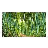 Fisch Tank Hintergrund Dekor Aquarium Ozean Landschaft Wand Aufkleber Realistisches Bild des Bambus waldes PVC Wasserdicht Aquarium Aufkleber 61 * 30cm/91 * 50cm
