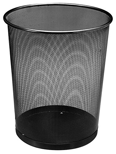 Mülleimer Metall - 18 Liter - schwarz - Papierkorb aus Drahtgeflecht
