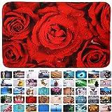 Sanilo Badteppich, viele schöne Badteppiche zur Auswahl, hochwertige Qualität, sehr weich, schnelltrocknend, waschbar (70 x 120 cm, Rosen)