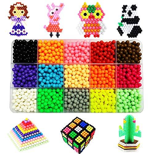 XIAOYAO Kit Abalorios Perlas 10 15 24 Colores Diferentes