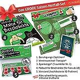 Geschenk-Idee: Das große Saison-Notfall-Set für Gladbach-Fans | 5X Überraschungen mit Spaßgarantie für Borussia Mönchengladbach Fans | Geschenke & Fanartikel f. Männer statt Hausschuhe, Caps