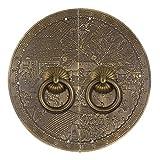 Chinesischer antiker Griff, klassische Klopfermöbelgriffe Retro-Kleiderschrank-Schuhtürkupfergriff-U-förmige Nadel aus Bronze-18Cm