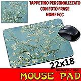 Tappetino Mouse Pad personalizzabile sp 2mm Collezione Van Gogh Ramo di Mandorlo in fiore