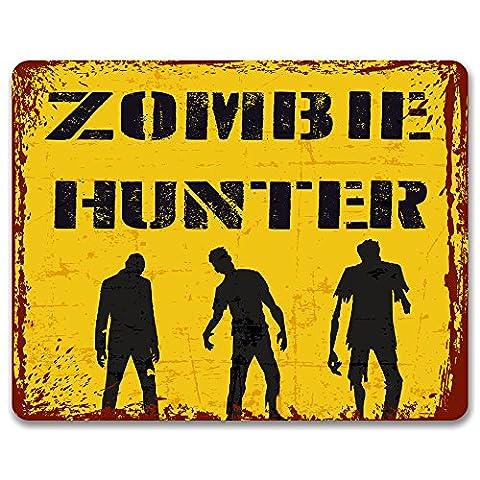 Zombie Hunter - Vintage Effect Metal Sign / Plaque