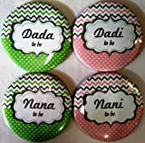 #5: Madcaps Baby Shower Badges Dada Dadi Nana Nani Set Of 4