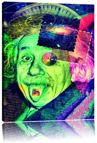 Einsteins secret Leinwandbild Bild auf Leinwand, XXL riesige Bilder fertig gerahmt mit Keilrahmen, Kunstdruck auf Wandbild mit Rahmen, günstiger als Gemälde oder Ölbild, kein Poster oder Plakat, Format:120x80 cm (Einstein-bild)