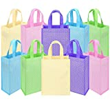 Ava & Kings 10 Pack Reusable Party Favor Kids Goodie Bags - Polka Dots