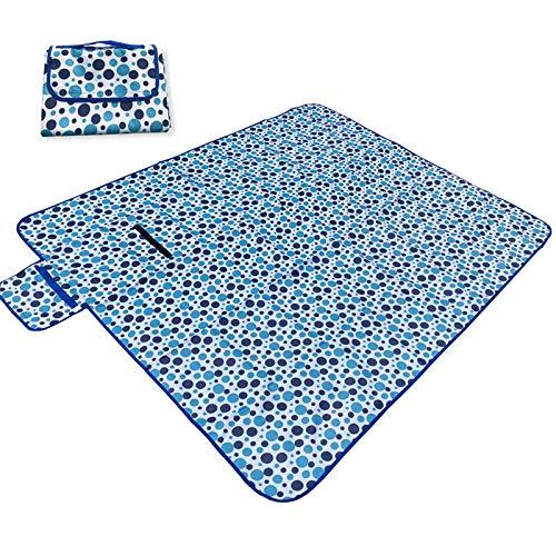 yueteng Tragbares Wasserdichtes Picknicktuch Der Blauen Punktpicknickmatte 1.5M * 1.8M