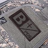 sypure (TM) caliente 3d Militar parche de bosque el tipo de sangre B un AB o positivo gancho neg Coyote Tan Gamuza de bordado estándar de brazaletes nuevo