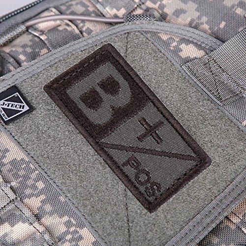 sypure (TM)-3d militare woodland sangue Patch tipo B a ab o gancio positivo Neg Coyote Tan ricamo panno Standard di bracciali, nuovo