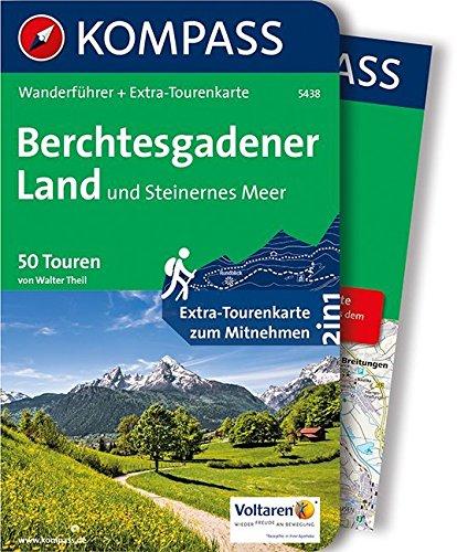 Berchtesgadener Land und Steinernes Meer: Wanderführer mit Extra-Tourenkarte 1:35000, 50 Touren, GPX-Daten zum Download. (KOMPASS-Wanderführer, Band 5438)