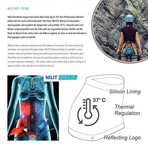 Kidneykaren Damen Nierenwärmer Yoga Fitness & Freizeit Multitube in vielen Farben Active Edition - Eclipse
