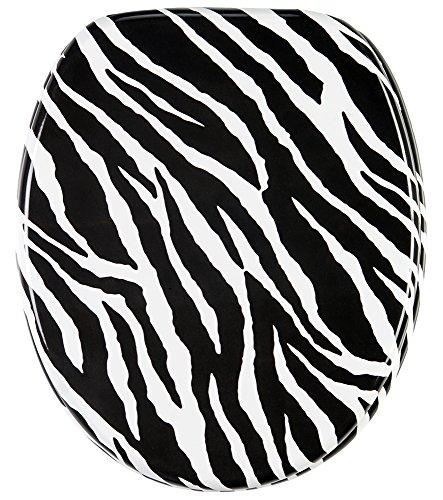 Einfach Zebra (WC Sitz, hochwertige Oberfläche, einfache Montage, stabile Scharniere, Zebra)