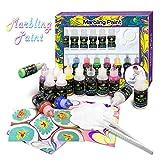 FUNTOK Marbling Ink Paint set, 8 Colors * 20ml Kit Jacquard Marbling d'acqua innovativo a mano realizzato educativi set di pittura giochi per bambini