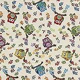 Fabulous Fabrics Gobelin Kleine Eule wollweiss - Meterware