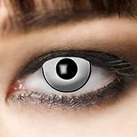 Leo Eyes Lentillas blancas, duración de 3 meses lentillas blancas mascara zombie mascara vampiro
