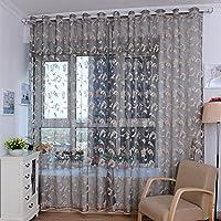 Mantovane in tulle per porta, finestra, tenda drappeggio a pannello, trasparente, per camera da letto salotto cameretta bambini Veranda Gray