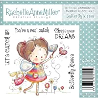 Crafters Companion Rachelle Anne Miller-Timbro in gomma bambini, Butterfly Kisses