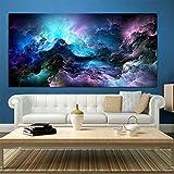 XIAOXINYUAN Große Mauer Kunstdrucke Cloud Abstrakte Farbenfrohe Ölgemälde an der Wand Dekor Blau Malerei Für Print Wand Bild Ohne Rahmen 30 X 60 cm Ohne Rahmen