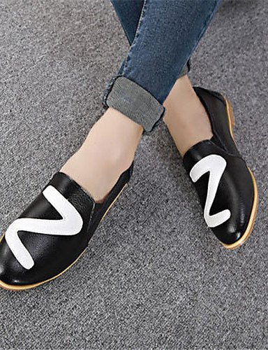 ZQ gyht Scarpe Donna Finta pelle Piatto Punta arrotondata Mocassini Casual Nero/Argento , silver-us8 / eu39 / uk6 / cn39 , silver-us8 / eu39 / uk6 / cn39 black-us5.5 / eu36 / uk3.5 / cn35