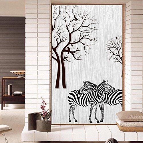 BBSLT Semplice 3D Zebra paesaggio forestale decorative