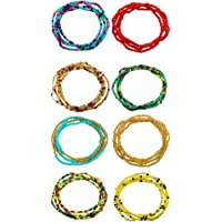 Generic Waist Beads Belly Beads African Waist Bead Body Chains Colorful Body Chain Stretchy Elastic Necklace Bracelet…