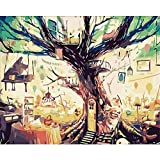 Digital DIY Oil Painting Kits Leinwand Leinwand Zeichnung für Erwachsene und Kinder Anfänger-Orange Trompete
