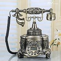 Vintage botones Vintage estilo antiguo teléfono de escritorio Home Living habitación decorativo antiguo teléfono