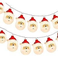 KOTONAMI Guirlande Lumineuse Père Noël, 9.8ft 20 LED À Piles Fées Lumières LED Guirlande Lumineuse pour Noël Décoration…