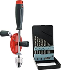 Corvus Hand-Bohrmaschine 600058 mit Bohrer-Satz 600059 2er Set