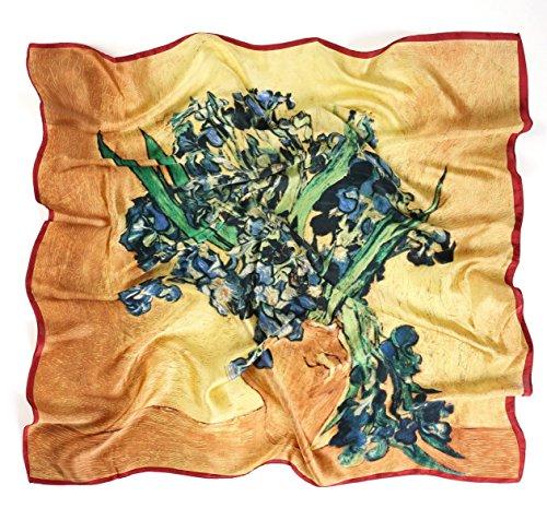 Prettystern P698-90cm Kunst Malerei Seidentuch - Vincent van Gogh - Iris (Iris Kunst)