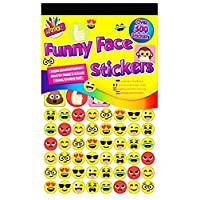 500 Funny Smiley Face Reward Stickers Emoji Funny Art Craft Party Bag Filler Home School Creative Chart Dentist