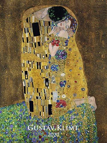Gustav Klimt 2020 - Bildkalender (42 x 56) - Kunstkalender - Metallicfolienveredelung - Wandkalender - Malerei (Jugendstil-planer)