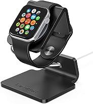 Lamicall Ladestation für Apple Watch, Charging Dock Station : Halterung Ständer kompatibel mit Apple Watch Series 5/4 / 3/2 / 1 - Schwarz