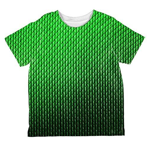 Halloween-grüne Erde-Drachen skaliert Kostüm aller Kleinkind T Shirt Multi 4 t (Drachen Kostüme Für Kleinkinder)