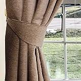 Homescapes 2 Chenille Raffhalter für Vorhänge nerzfarben Gardinen Raffhalter Passend zu Thermogardine Chenille Vorhang