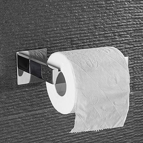 Toilettenpapierhalter, ACITMEX Klorollenhalter ohne bohren Selbstklebend WC Halter Rollenhalter Edelstahl für Badzimmer und Küche