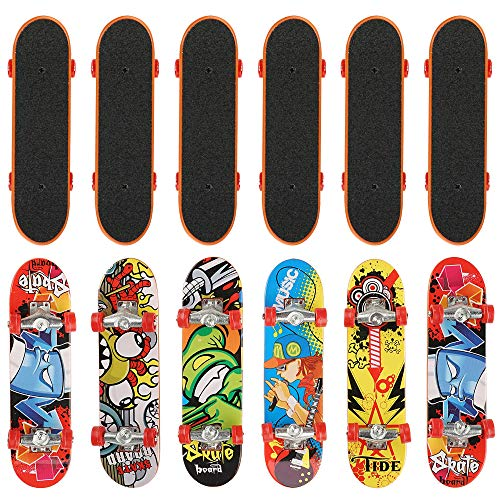 12x Fingerskateboard Set & Fingerboard in 12 für Kinder – finger skateboard & Spielzeug Finger Miniboard – Ideal für Weihnachten Mitgebsel, Kleinspielzeug Mix Beutel Kindergeburtstag, Party Favours.