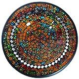Simandra Mosaikschale Tonschale Glasschale Dekoschale Mosaik Kunsthandwerk Glassteine Deko Rund Spiegel XL Color Orange