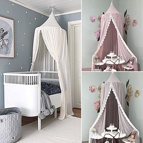 Hübscher Betthimmel Für Kinderbett Aus Chiffon, Als Spielzelt, Moskitonetz  Und Dekoration, Rund, Für Innen  Und Außenbereich