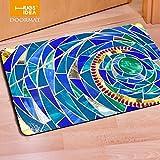 SL-Das Schlafzimmer Tampondruck 3-D-Drucken Zimmer Ausstattung Gummi rutschfeste europäischen Stil Badezimmer Teppich, Vier