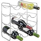 mDesign Range Bouteille en métal pour Boissons – Porte Bouteille vin pour Jusqu'à 12 Bouteilles d'Eau ou vin – casier Bouteil