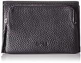 BREE Damen Liv 135, Black, Flap Wallet M Geldbörse, Schwarz, 3x9x14 cm