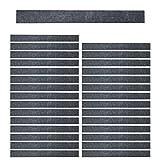 Mehrondo 30 Stück Dunkelgraue Filzstreifen Rohlinge FS203DG, 300x30x3 mm vorgeschnitten — ideal zum kreieren von Schlüsselanhänger und Schlüsselband