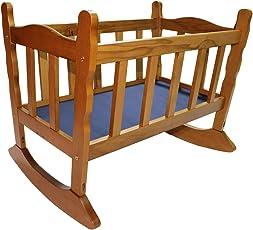 Blubud Baby Wooden Rocking Cradle/Rocking Crib/Baby Bassinet/Baby Cot(0-12 Months)