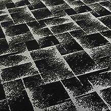 Exclusivo tela negro color plateado brillante diseño geométrico Tapicería Cortina Patrón de chenilla tela perfecto para muebles muebles material