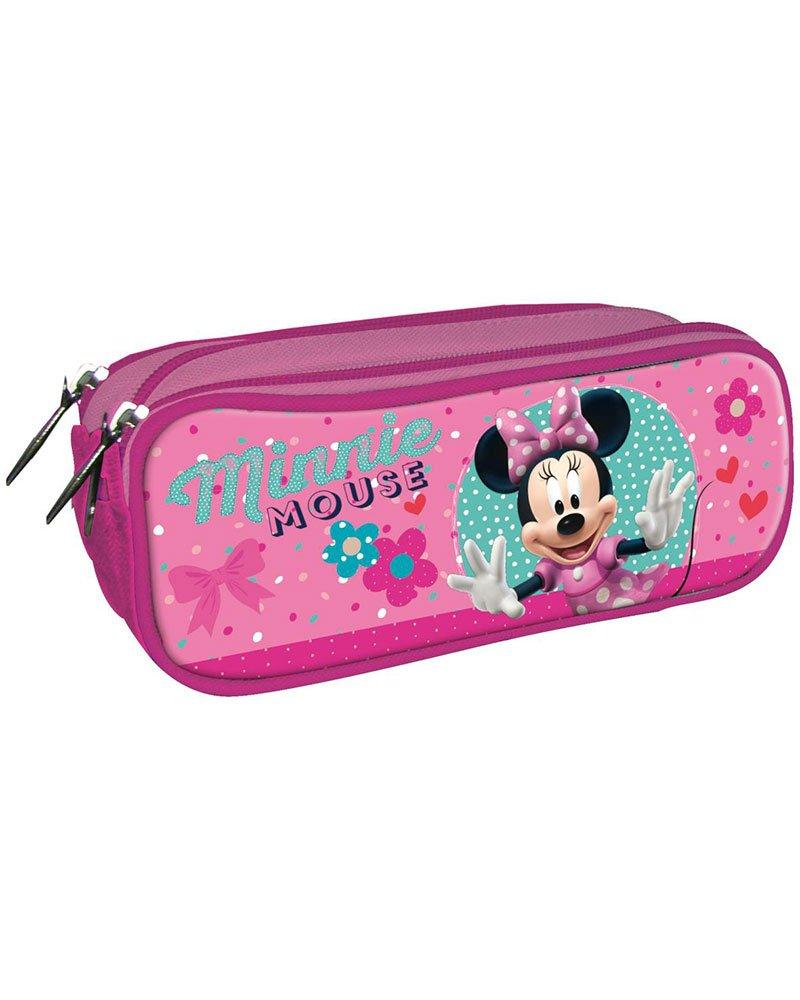 Disney Minnie Estuche portatodo con Triple Cremallera Bolsillo