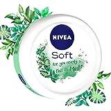 NIVEA Soft, Light Moisturising Cream, Chilled Mint, 100ml