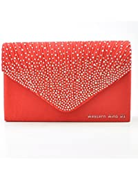 Amazon.co.uk: Red - Clutches / Women's: Shoes & Bags